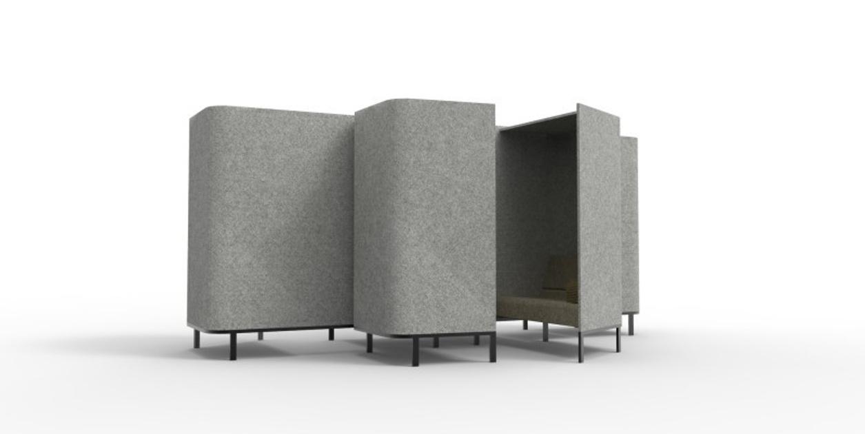Buzzi hive sound absorbing furniture